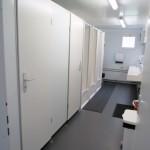 sanitary cabin inside