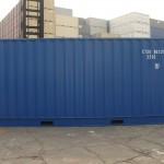 shipping container side view